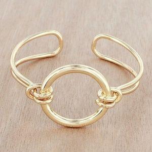Goldtone Circle Cuff Bracelet